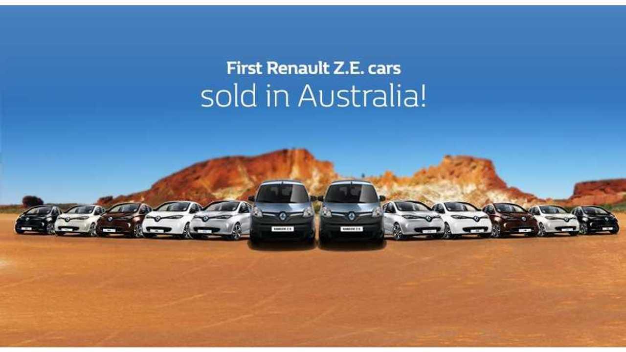 Renault Electric Cars Arrive In Australia
