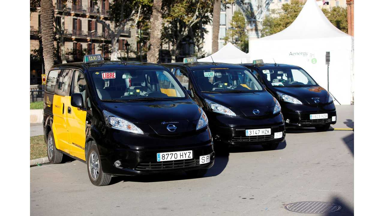 Nissan Delivers First LEAF, e-NV200 Taxis To Barcelona And Madrid