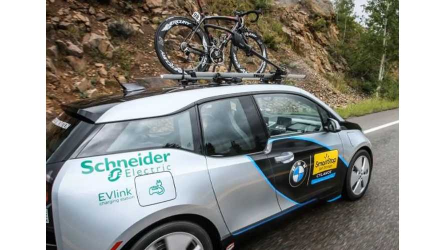 BMW i3 As Support Vehicle At USA Pro Cycling Challenge 2014 - Video