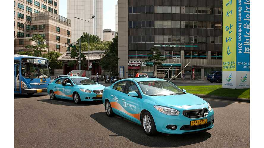 10 Renault Samsung SM3 Z.E. EVs Hit Streets Of Seoul City as Taxis