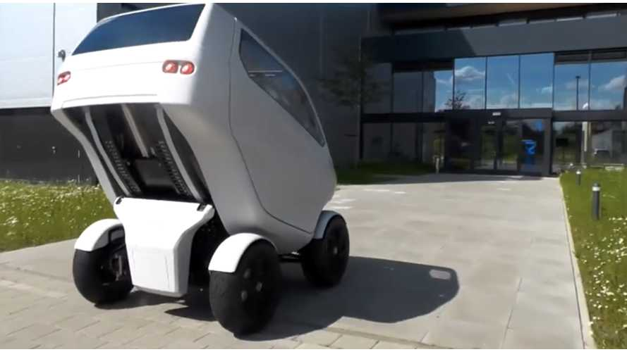 EO Electric Car Can Shrink, Drive Sideways - Video