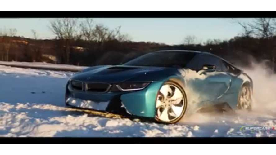 BMW i8 Does What It Was Not Intended For, Drifting In The Snow -Video