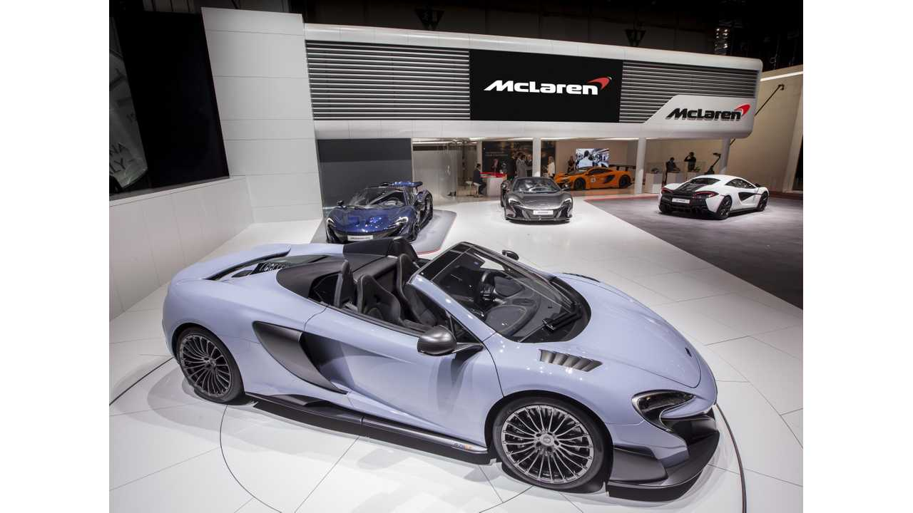 McLaren at the stage