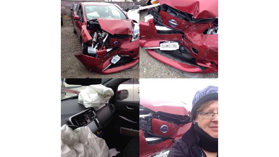 Nissan LEAF Gets Totaled - Occupants Okay