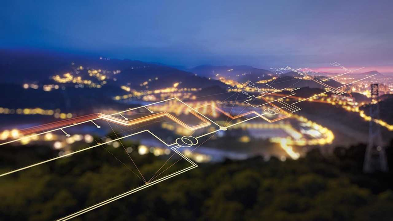 Siemens futuristic graphic