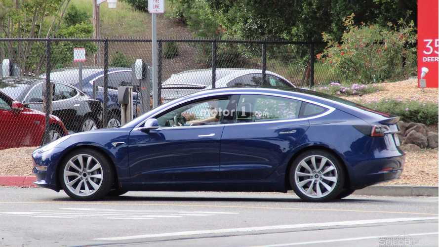 "Tesla Model 3 ""Release Candidate"" Caught In High-Res, In Blue Too"