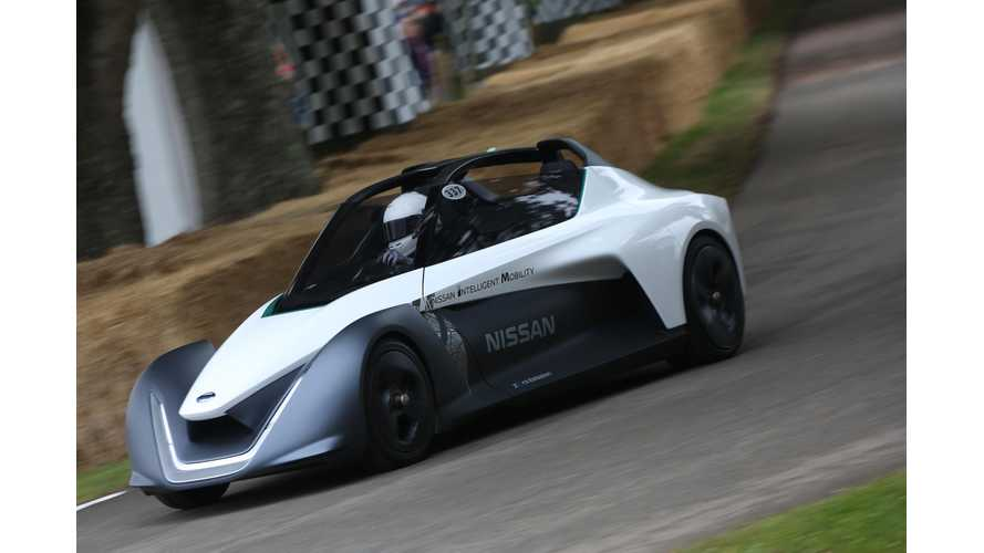 Nissan BladeGlider Takes To Track At Goodwood Festival Of Speed - Video