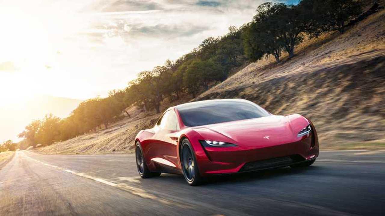 Tesla Roadster driving front 2