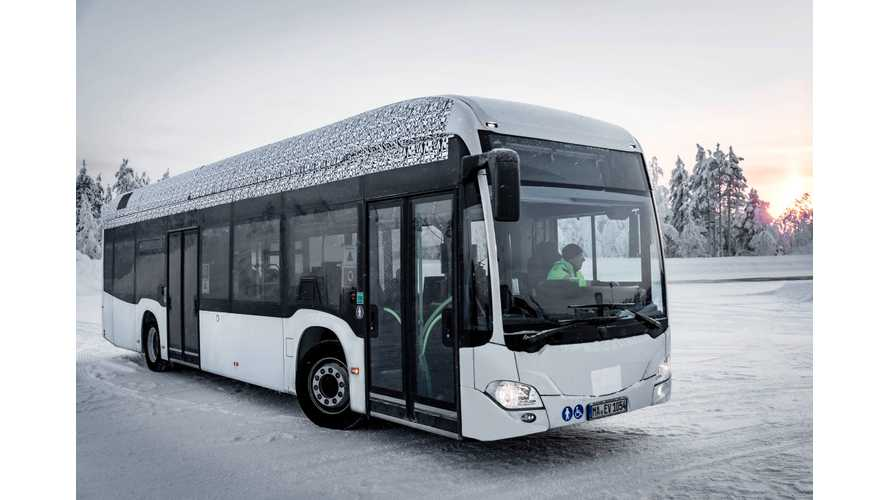 See Mercedes-Benz Present Electric Citaro Bus Prototype