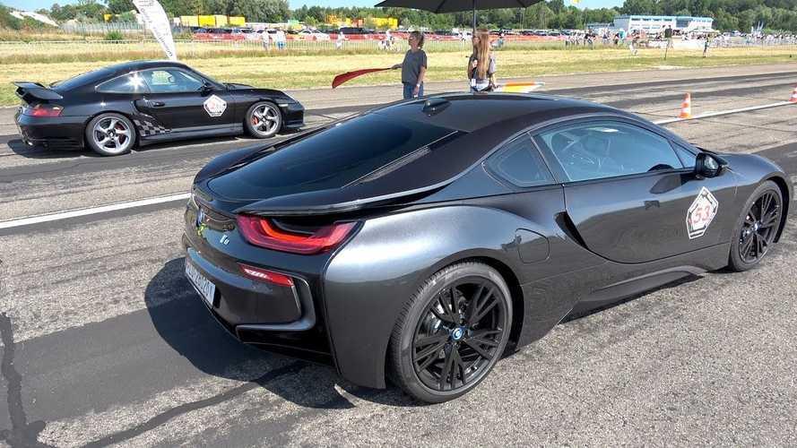 Watch BMW i8 Race Porsche 996 Turbo, BMW M3 And Others