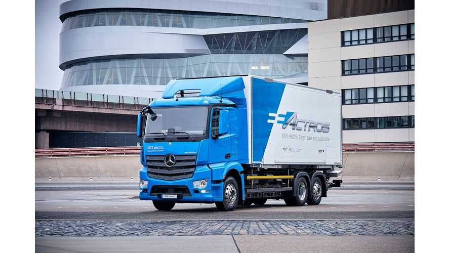Daimler eActros Electric Truck Begins Customer Trials