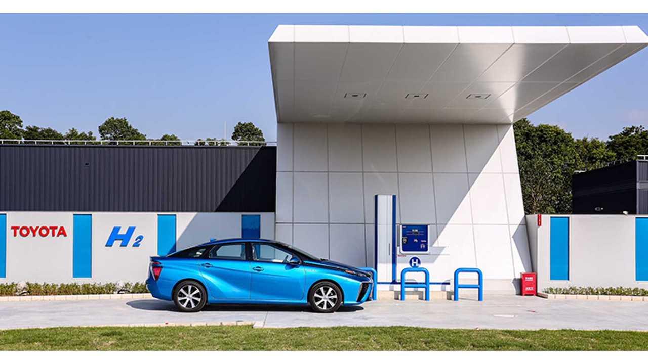Toyota Mirai at TMEC Hydrogen Station in Changshu High Tech Industrial Park, Changshu, Jiangsu Province, China