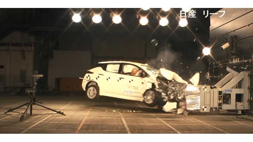 New Nissan LEAF Gets 5-Star Safety Rating In Japan (w/videos)