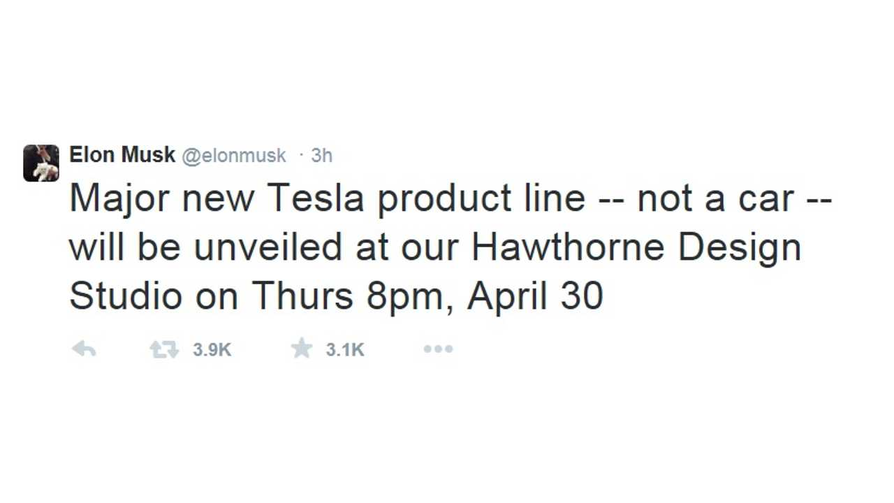 New Major Non Car Product To Debut In April From Tesla