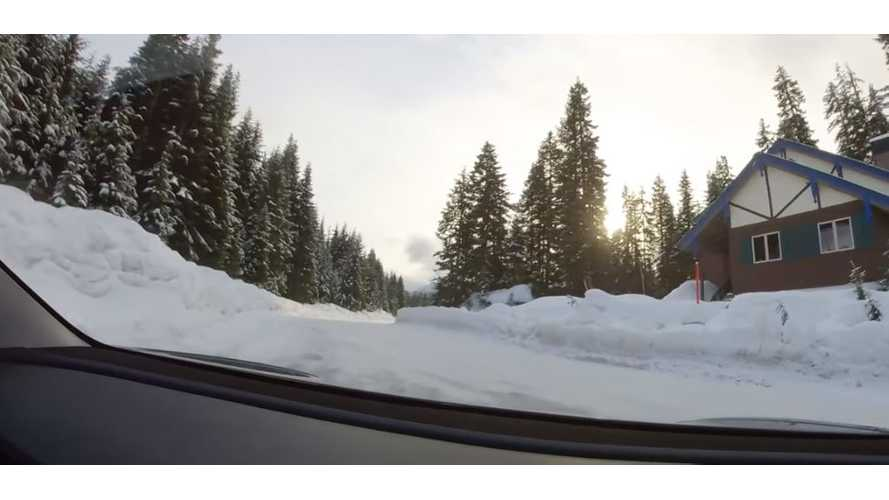 Watch Tesla Model 3 AWD Tackle Snowy Snoqualmie Pass: Video