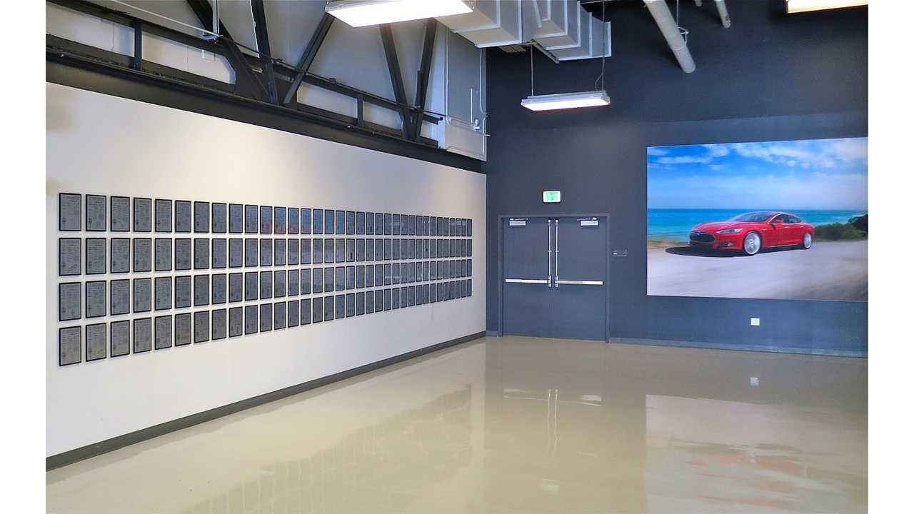 Tesla Motors Patent Wall Before Removal