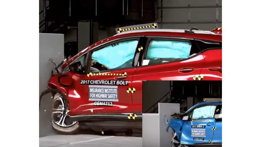 Chevy Bolt Compared To BMW i3 In IIHS Crash Tests - Video