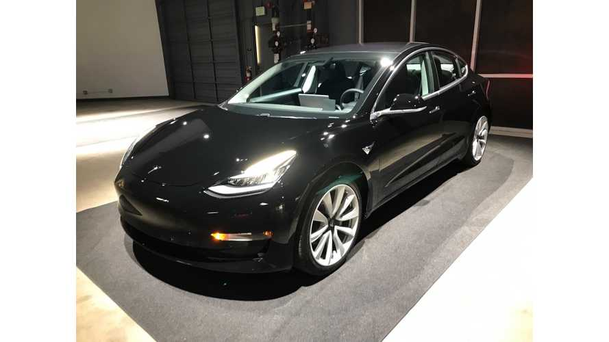 First Legit Tesla Model 3 Now On eBay With Starting Bid Of $69,995