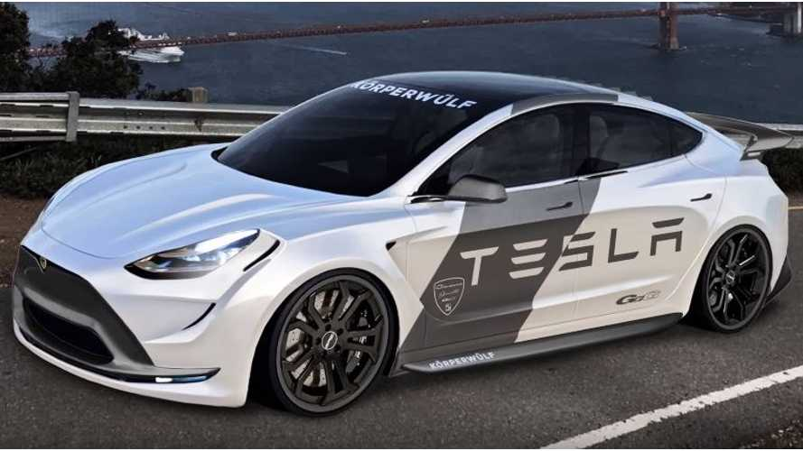 Compilation Of Rendered & Modified Tesla Model 3 EVs - Video