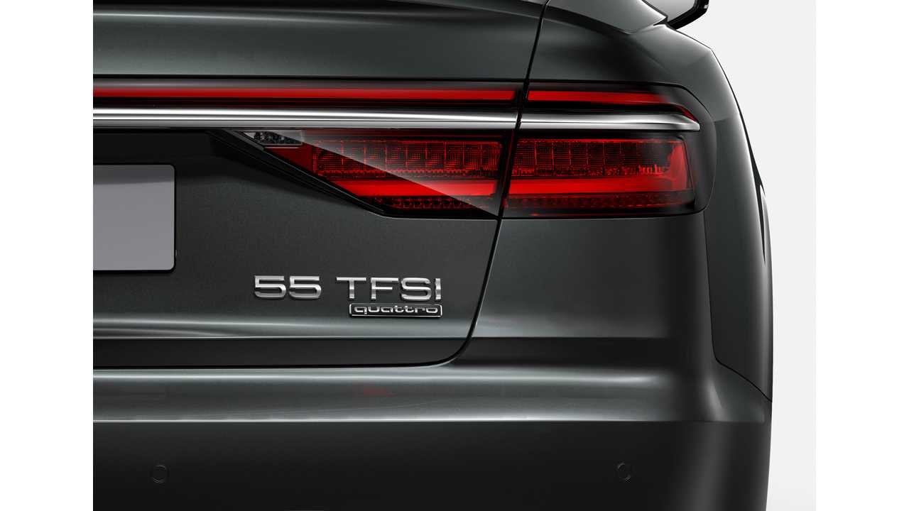 Audi A8 55 TFSI Badge