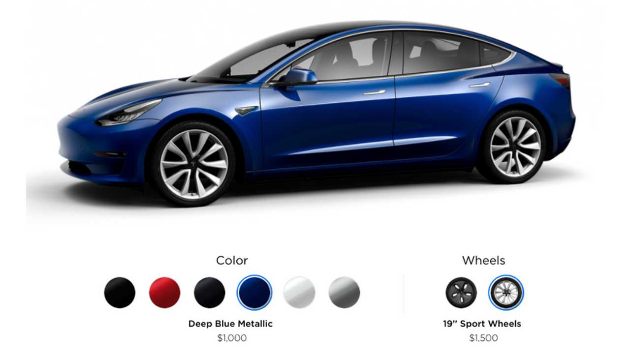 Tesla Model 3 Deep Blue Metallic
