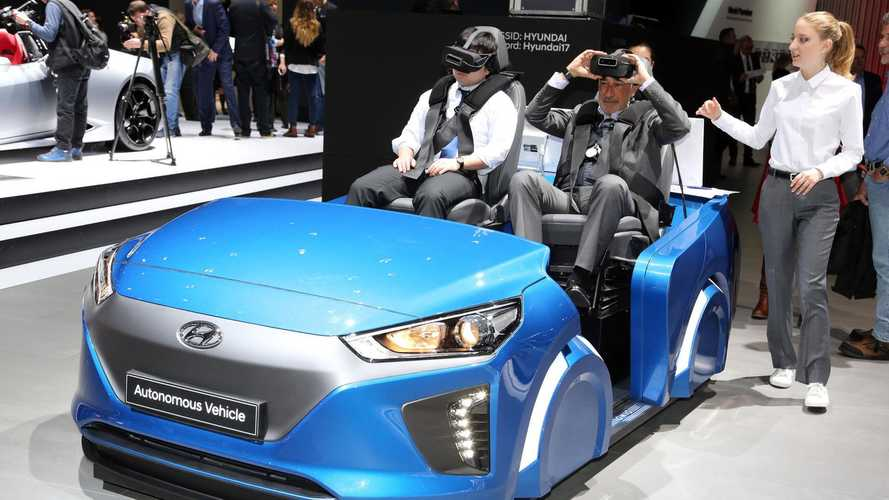 Hyundai IONIQ Autonomous Car & IONIQ VR Simulator On Display In Geneva