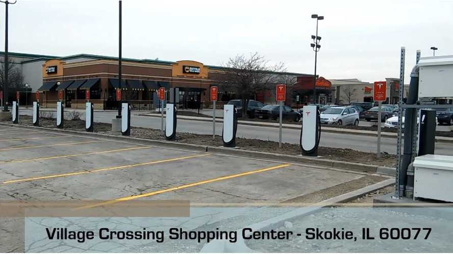 20 Tesla Urban Superchargers Installed In Skokie, IL (Up To 120 kW?!) - Video
