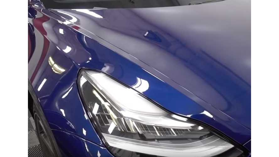 See A Blue Tesla Model 3 From Every Angle Imaginable - Video