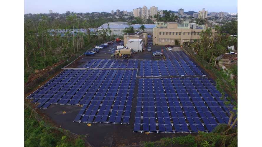 Tesla Releases Photos Of Solar/Battery Project At Puerto Rico Hospital
