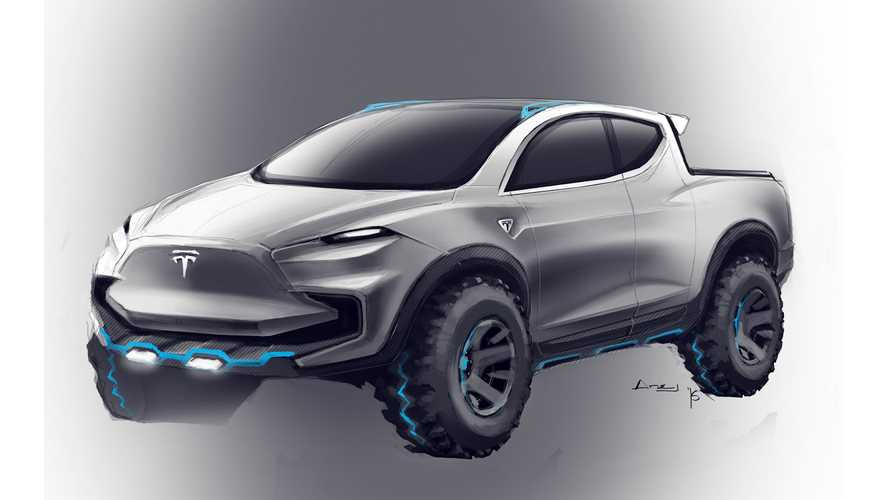 Tesla Pickup Truck Rendered As Ford F-150 Raptor Competitor