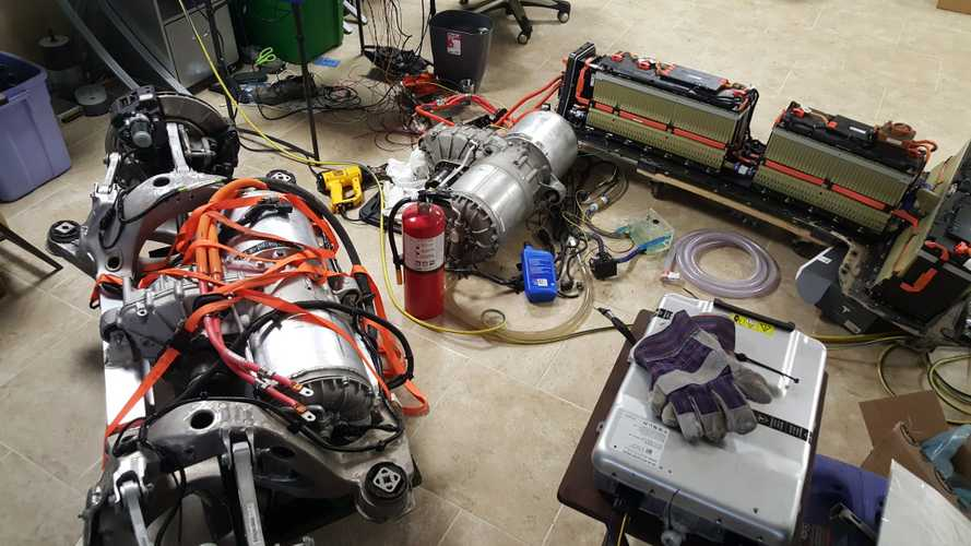 DIY Tesla Model S / Chevrolet Volt Mashup Results In 1,000 HP Setup - Video