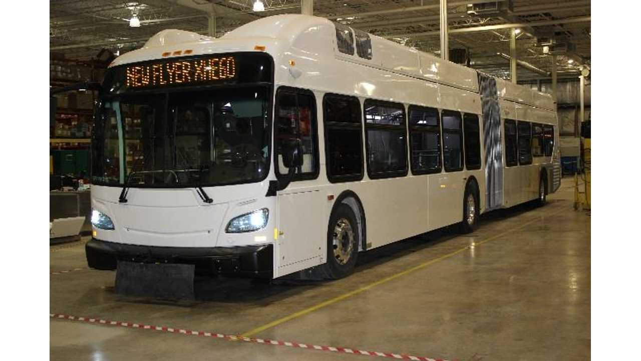 New Flyer Unveiled North America First 60-Foot Hydrogen Fuel Cell Bus