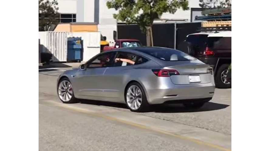 Tesla Model 3 Spotted In The Wild - Video