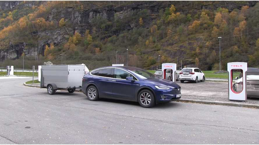 Optimal Speed And Range Pulling A Trailer With A Tesla Model X - Video