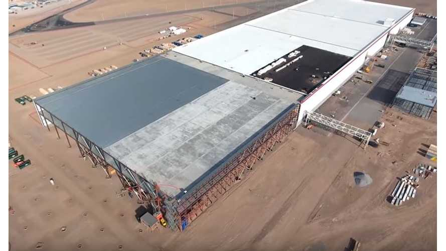 Tesla Gigafactory Still Ahead Of Schedule, Plus New 4k Drone Flyover Video