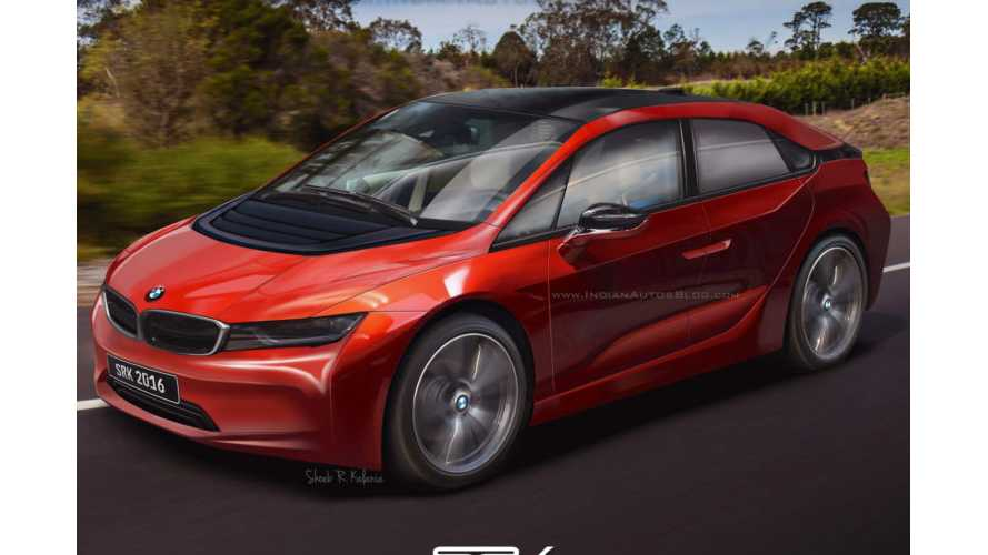 BMW i5 Rendering Based On Recent Patent Images