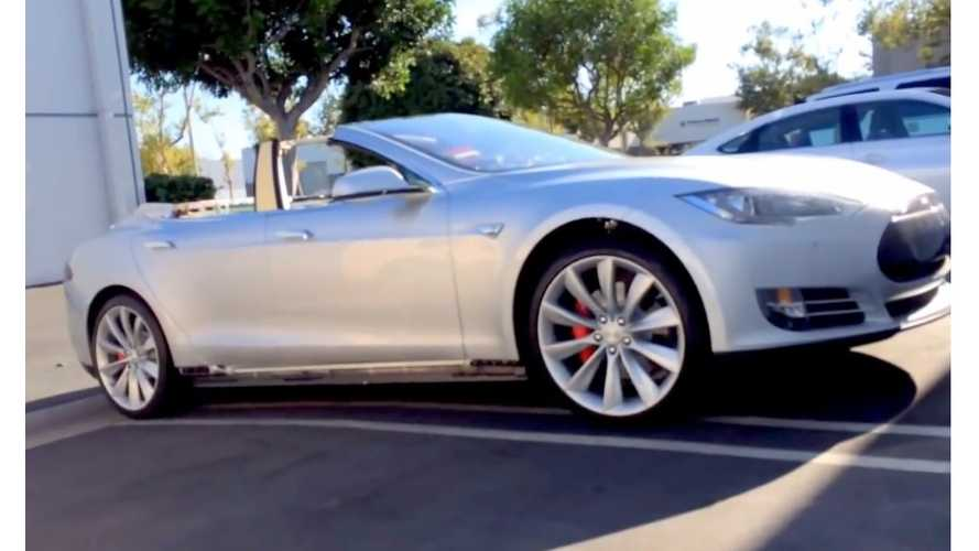 Topless Tesla Model S Convertible Revealed - Video