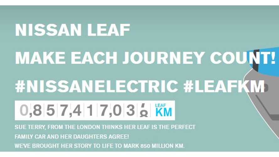 Nissan LEAF Owners Expected To Surpass 1 Billion Collective Electric Kilometers By January 2015