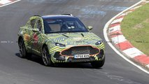 Aston Martin DBX spy photo