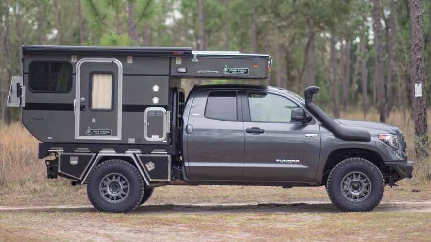 Custom Toyota Tundra camper shows off van life