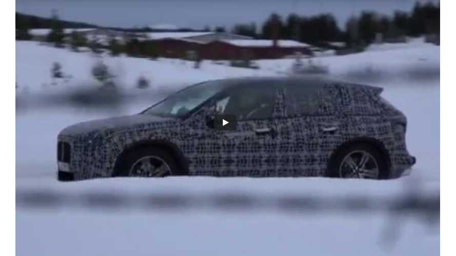 BMW iNext Production SUV Spied Playing In The Snow
