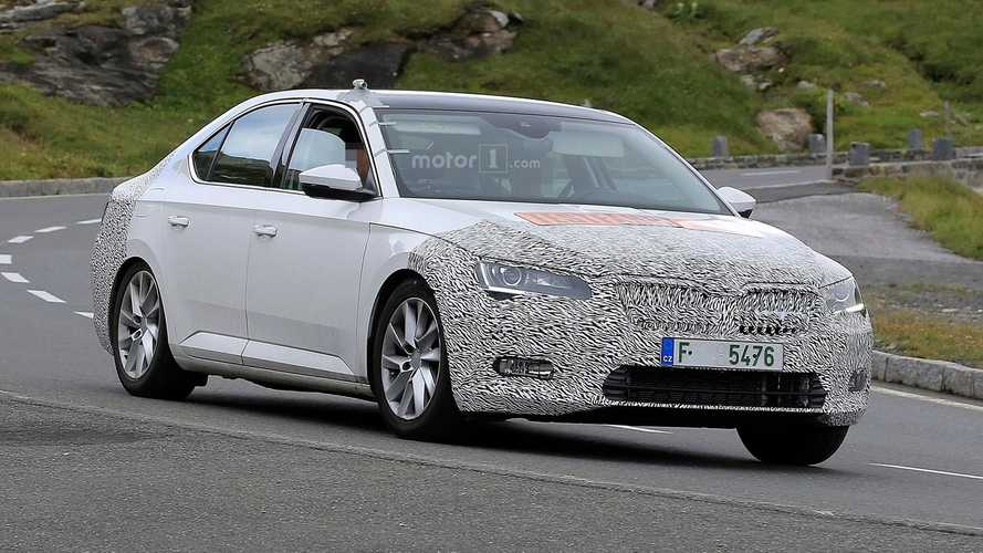 Skoda Superb Facelift Spied, Will Be Brand's First-Ever PHEV