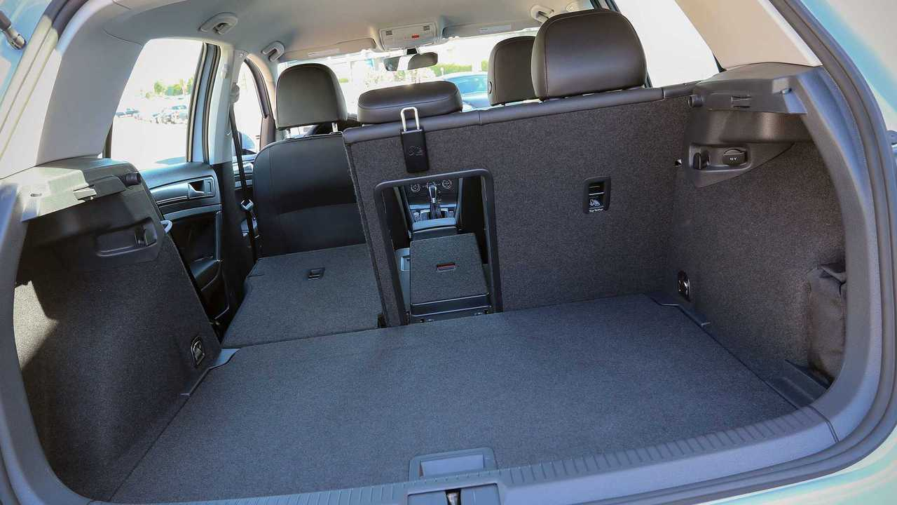 A look at the cargo room of the 2017 VW e-Golf