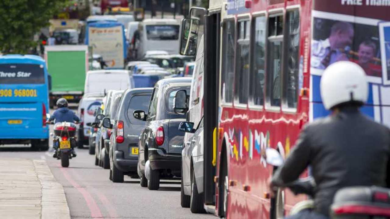 London traffic rush hour