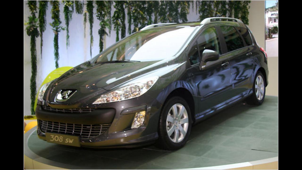 Peugeot 308 SW: Auch die neue Version des Kompakt-Kombis hat ausbaubare Sitze