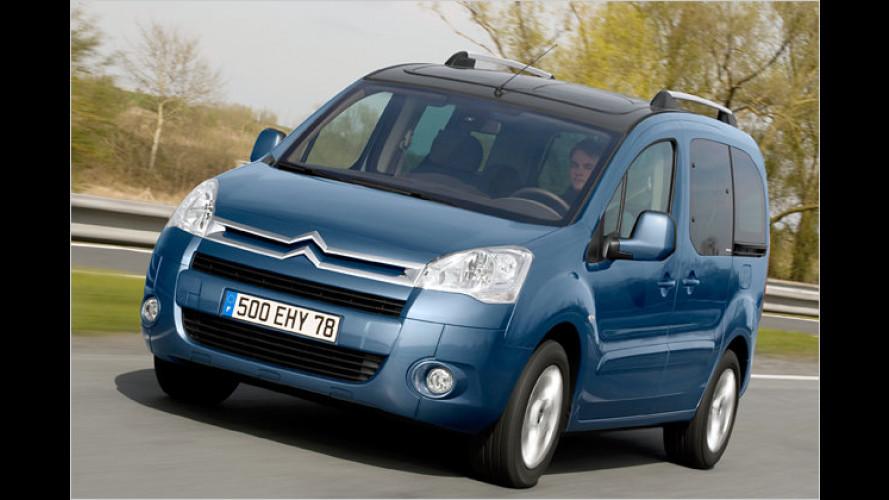 Citroën Berlingo mit Diesel und Benziner-Nemo nun sparsamer