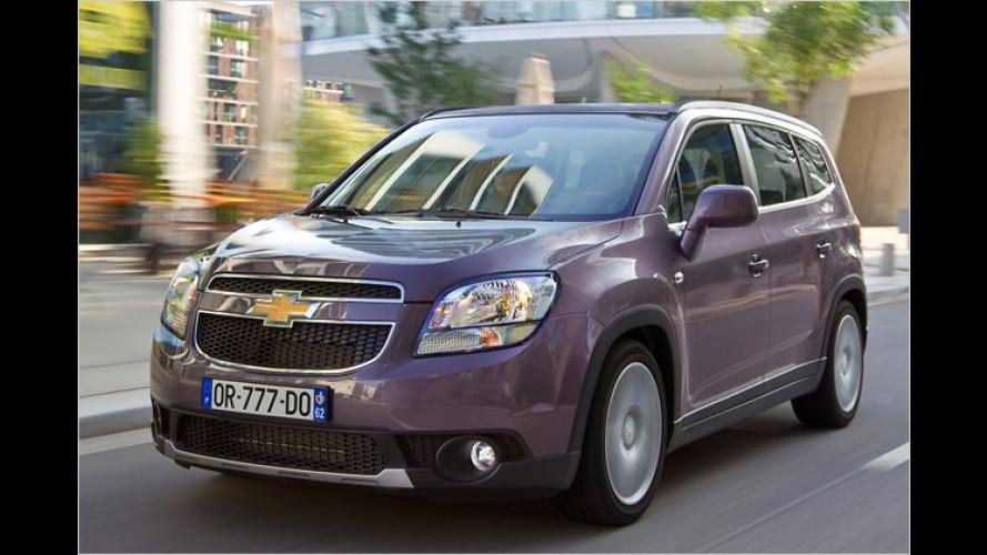 Neuer Van von Chevrolet: Familienfreundlich wie Orlando