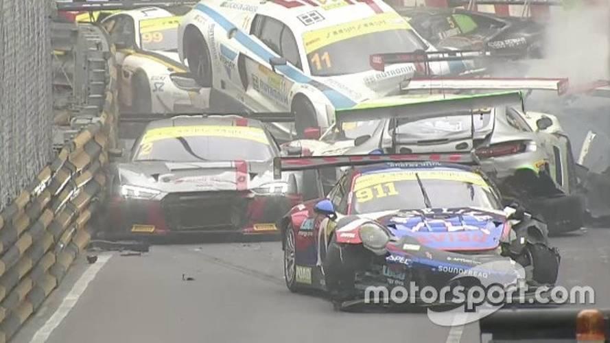 Macau GT'de tam bir karambol yaşandı