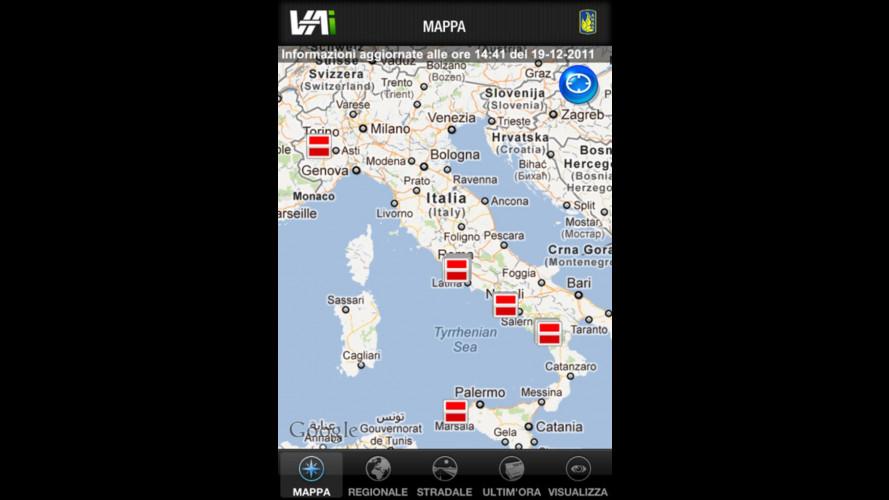 Le info Anas sul traffico in un'app per iPhone