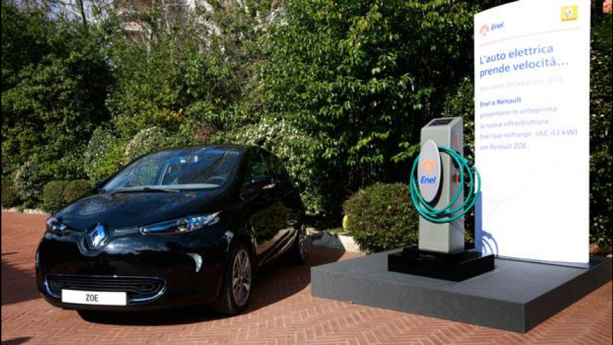 """Auto elettrica, Renault ed ENEL danno il via alla """"Fast Recharge"""""""